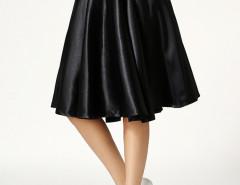 Black High Waist Skater Midi Skirt Choies.com sklep internetowy z odzieżą i modą z Wielkiej Brytanii