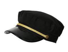 Black Short Brim Glod String Detail Hat Choies.com sklep internetowy z odzieżą i modą z Wielkiej Brytanii