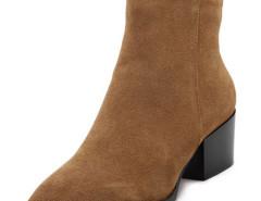 Brown Pointed Toe Contrast PU Detail Heeled Boots Choies.com sklep internetowy z odzieżą i modą z Wielkiej Brytanii