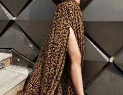 Leopard V Neck Batwing Sleeve Tie Back Split Empire Maxi Dress Choies.com sklep internetowy z odzieżą i modą z Wielkiej Brytanii