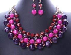 Multicolor Beaded Statement Collar Nacklace And Earrings Pack Choies.com sklep internetowy z odzieżą i modą z Wielkiej Brytanii