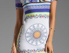 Multicolor Paisley Pattern Short Sleeve Bodycon Mini Dress Choies.com sklep internetowy z odzieżą i modą z Wielkiej Brytanii