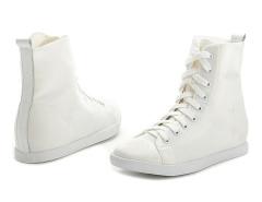 Supra White Lace Up Sneakers Choies.com sklep internetowy z odzieżą i modą z Wielkiej Brytanii