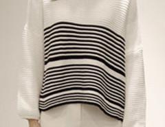 White Stripe Long Sleeve Dipped Hem Jumper Choies.com sklep internetowy z odzieżą i modą z Wielkiej Brytanii